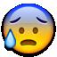 cold sweat emoji