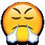 angry snort emoji